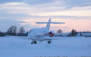 Jet Covered in Snow
