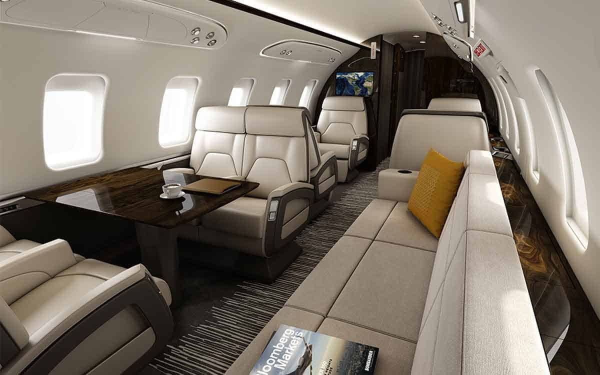 The challenger 650 by bombardier for Interior pics