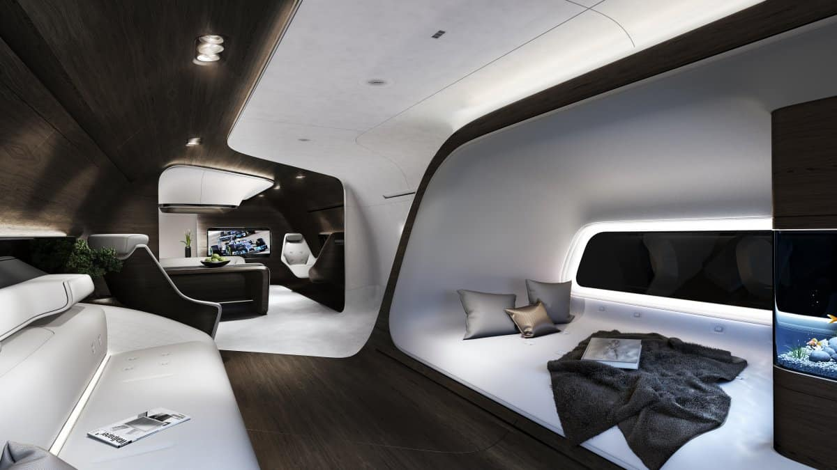 Mercedes Unveils A Dazzling New Private Jet Interior
